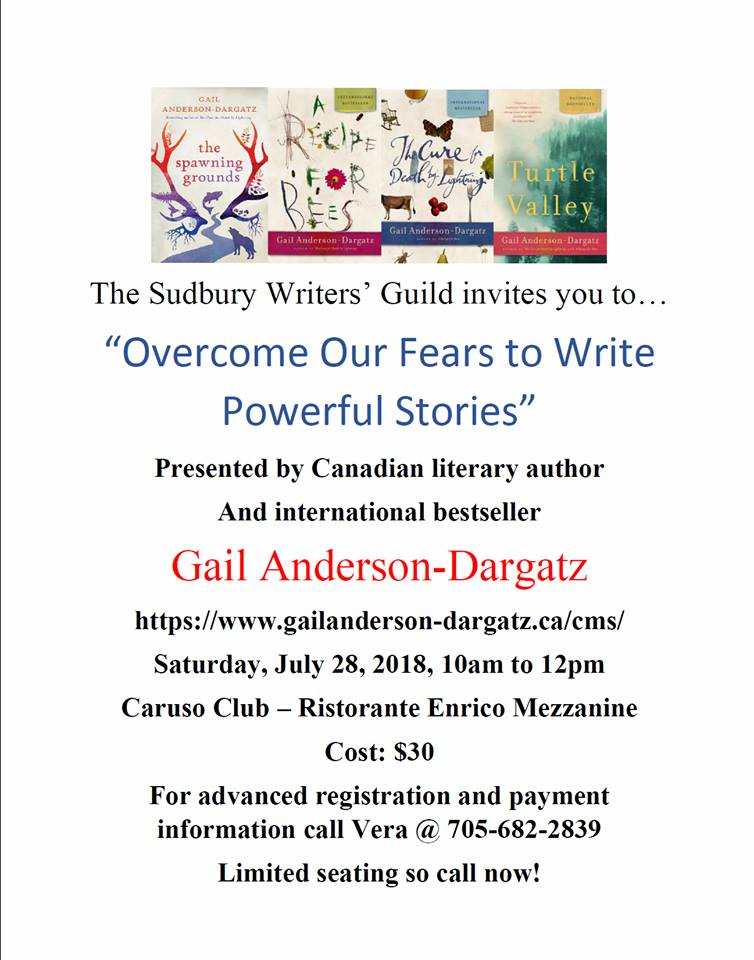 Poster for Gail Anderson-Dargatz Workshop